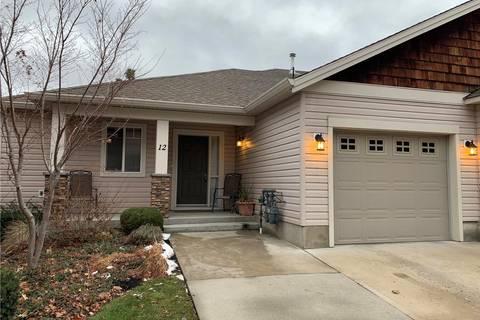 Townhouse for sale at 2175 Shannon Ridge Dr Unit 12 West Kelowna British Columbia - MLS: 10196806