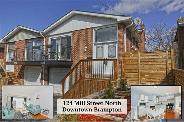 For Sale: 124 Mill Street, Brampton, ON | 4 Bed, 3 Bath Townhouse for $599,000. See 20 photos!
