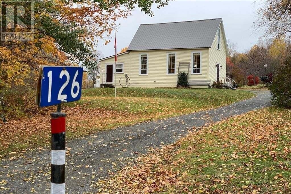 House for sale at 126 Bedell Settlement Rd Bedell New Brunswick - MLS: NB050642