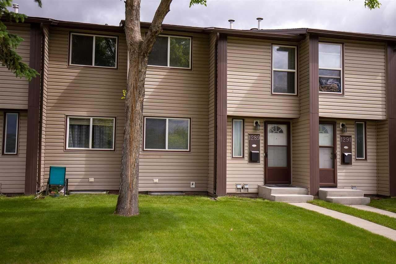 Townhouse for sale at 1289 Hooke Rd NW Edmonton Alberta - MLS: E4184159