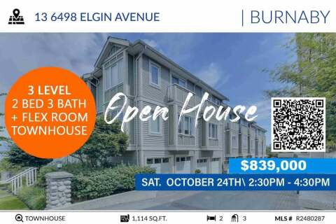 Townhouse for sale at 6498 Elgin Ave Unit 13 Burnaby British Columbia - MLS: R2480287