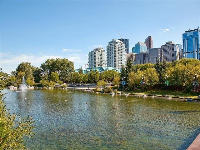 For Sale: 1302 - 400 Eau Claire Avenue Southwest, Calgary, AB | 2 Bed, 2 Bath Condo for $549,000. See 43 photos!