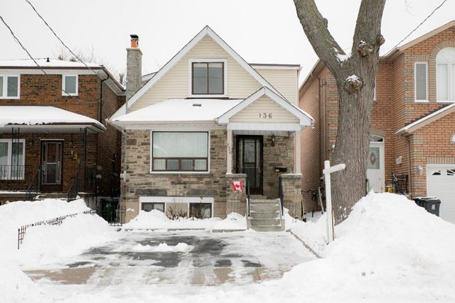 For Sale: 136 South Edgely Avenue, Toronto, ON | 4 Bed, 2 Bath House for $650,000. See 13 photos!