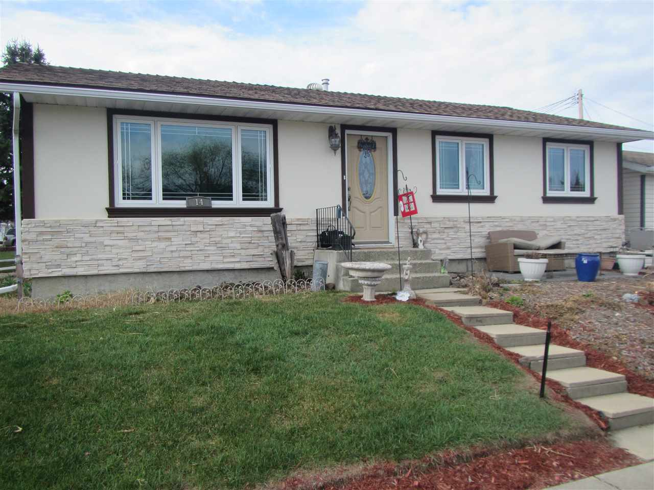 For Sale: 14 Maligne Drive, Devon, AB | 4 Bed, 2 Bath House for $309,900. See 24 photos!