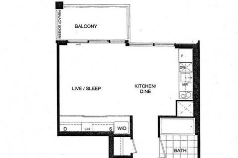 Apartment for rent at 27 Bathurst St Unit 1410 W Toronto Ontario - MLS: C4597991