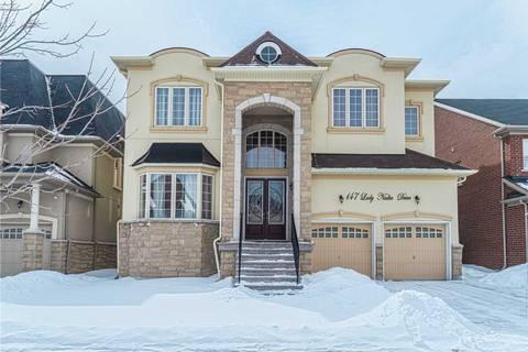 House for sale at 147 Lady Nadia Dr Vaughan Ontario - MLS: N4392435