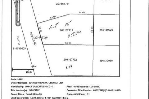 Home for sale at 15 Tamke Rd Dundurn Rm No. 314 Saskatchewan - MLS: SK776052