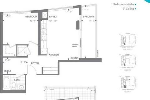 Apartment for rent at 460 Adelaide St Unit 1511 Toronto Ontario - MLS: C4736355