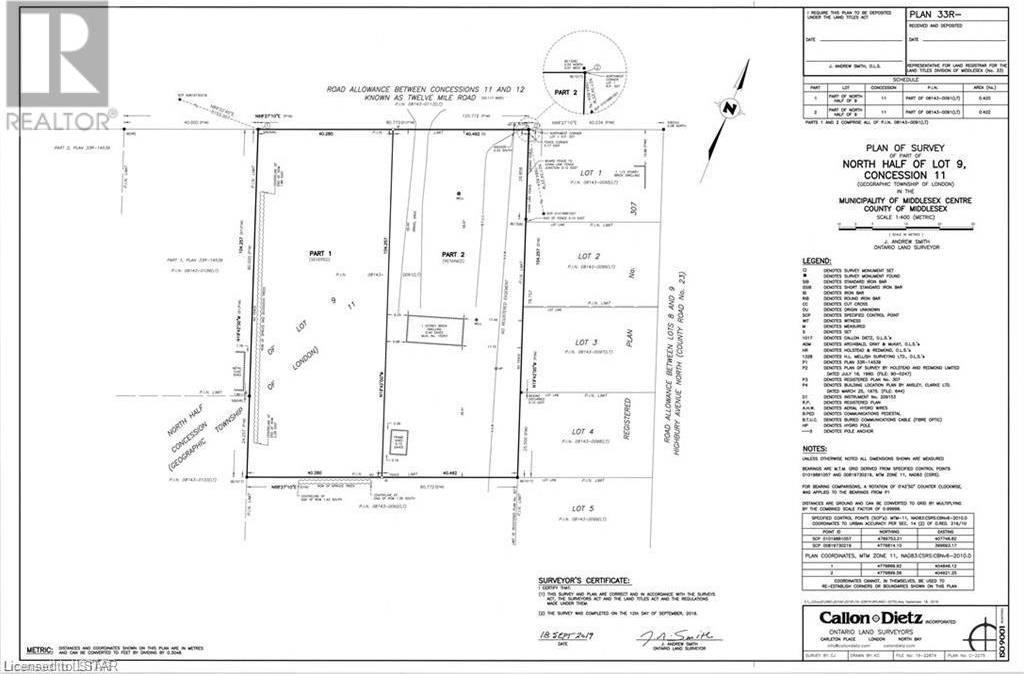 House for sale at 15263 Twelve Mile Rd Ilderton Ontario - MLS: 246440