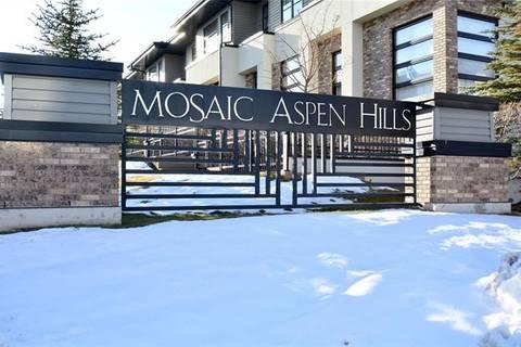 Townhouse for sale at 155 Aspen Hills Villa(s) Southwest Calgary Alberta - MLS: C4278354
