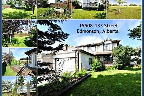 House for sale at 15508 133 St Nw Edmonton Alberta - MLS: E4160871