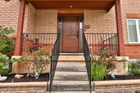 Townhouse for sale at 1750 Creek Wy Unit 16 Burlington Ontario - MLS: H4055492