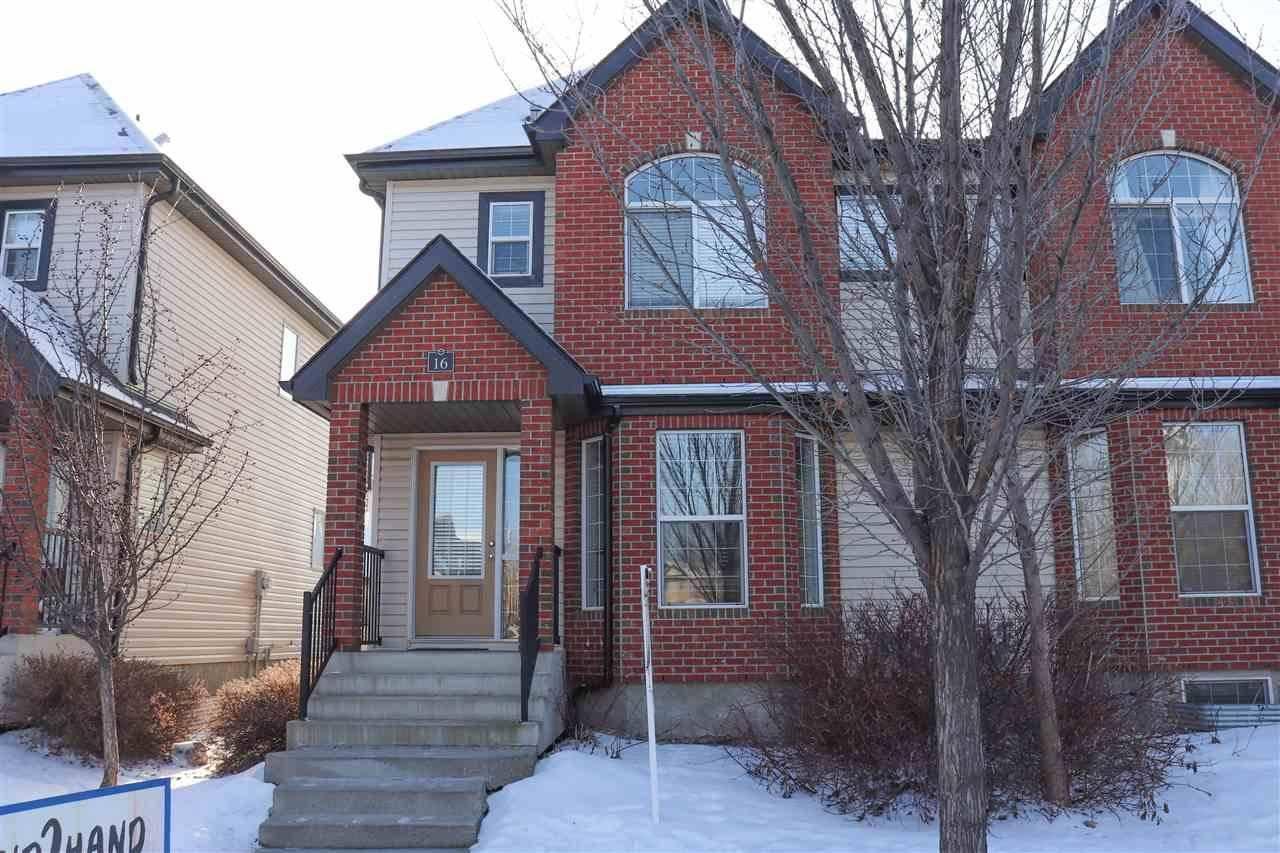 Townhouse for sale at 5281 Terwillegar Blvd Nw Unit 16 Edmonton Alberta - MLS: E4181393
