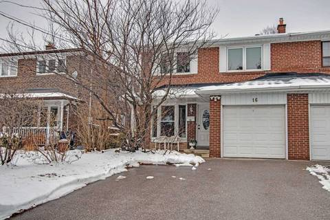 Townhouse for sale at 16 Fontainbleau Dr Toronto Ontario - MLS: C4647609