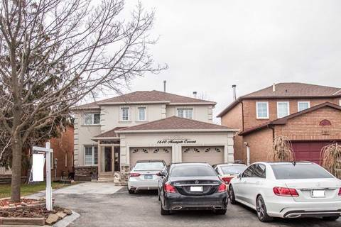 House for sale at 1640 Moongate Cres Mississauga Ontario - MLS: W4721961