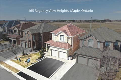 House for sale at 165 Regency View Hts Vaughan Ontario - MLS: N4729579