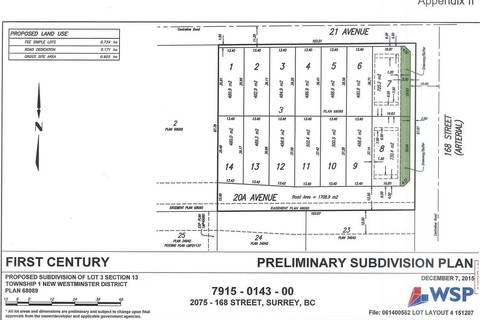 Residential property for sale at 16772 21 Ave Surrey British Columbia - MLS: R2357919