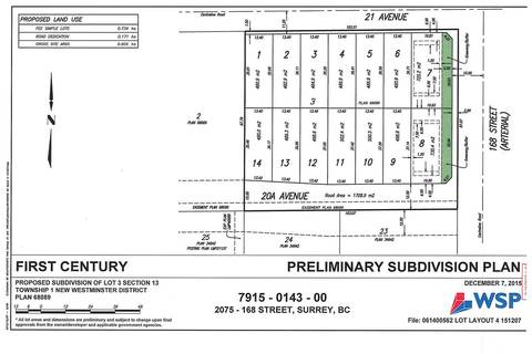 Residential property for sale at 16775 20a Ave Surrey British Columbia - MLS: R2370482
