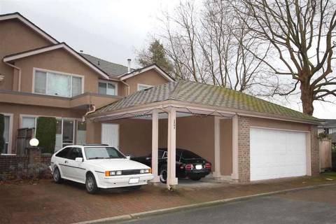Townhouse for sale at 9671 Capella Dr Unit 17 Richmond British Columbia - MLS: R2397045