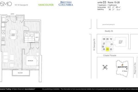 Condo for sale at 161 Georgia St W Unit 1703 Vancouver British Columbia - MLS: R2412887