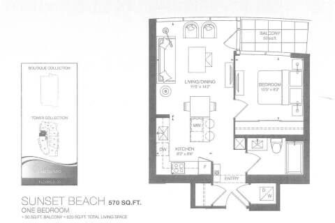 Apartment for rent at 59 Annie Craig Dr Unit 1706 Toronto Ontario - MLS: W4812492
