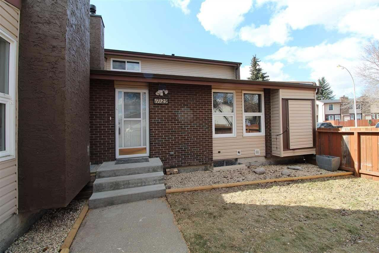 Townhouse for sale at 17129 109 St NW Edmonton Alberta - MLS: E4194891