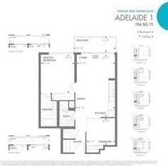 Apartment for rent at 460 Adelaide St Unit 1716 Toronto Ontario - MLS: C4627509