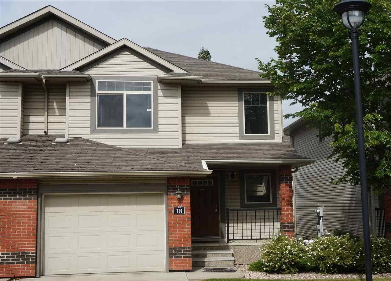 Townhouse for sale at 1128 156 St Nw Unit 18 Edmonton Alberta - MLS: E4190569