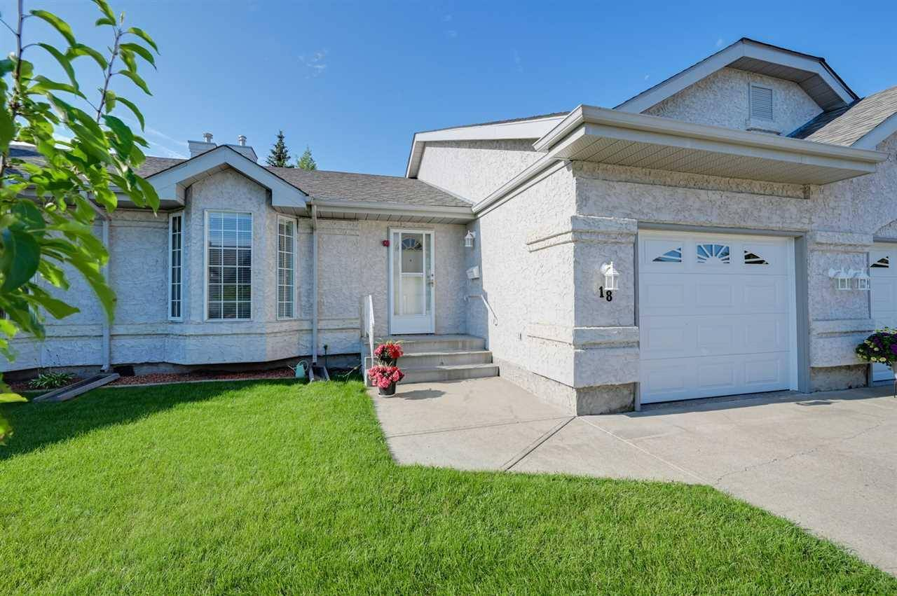 Townhouse for sale at 303 Twin Brooks Dr Nw Unit 18 Edmonton Alberta - MLS: E4167202