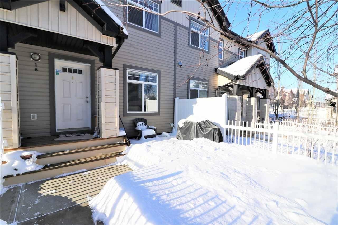 Townhouse for sale at 465 Hemingway Rd Nw Unit 18 Edmonton Alberta - MLS: E4185245