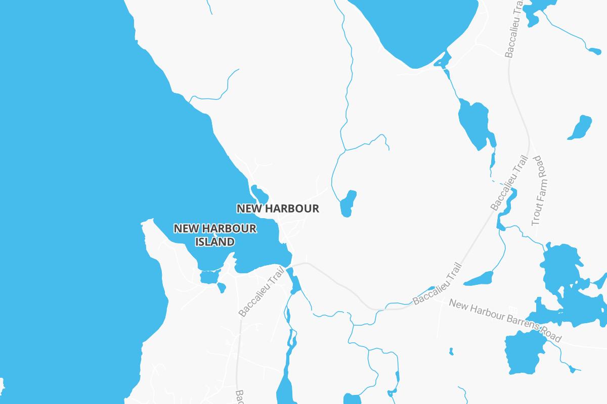 New harbour road barrens
