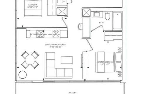 Apartment for rent at 85 Wood St Unit 1803 Toronto Ontario - MLS: C4462842