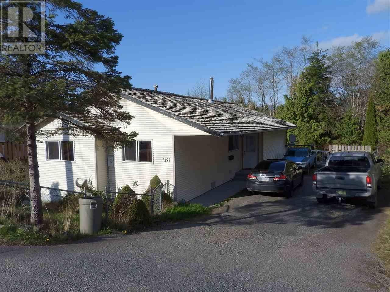 House for sale at 181 Crestview Dr Prince Rupert British Columbia - MLS: R2403812