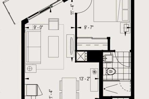 Apartment for rent at 50 Ordnance St Unit 1810 Toronto Ontario - MLS: C5085386