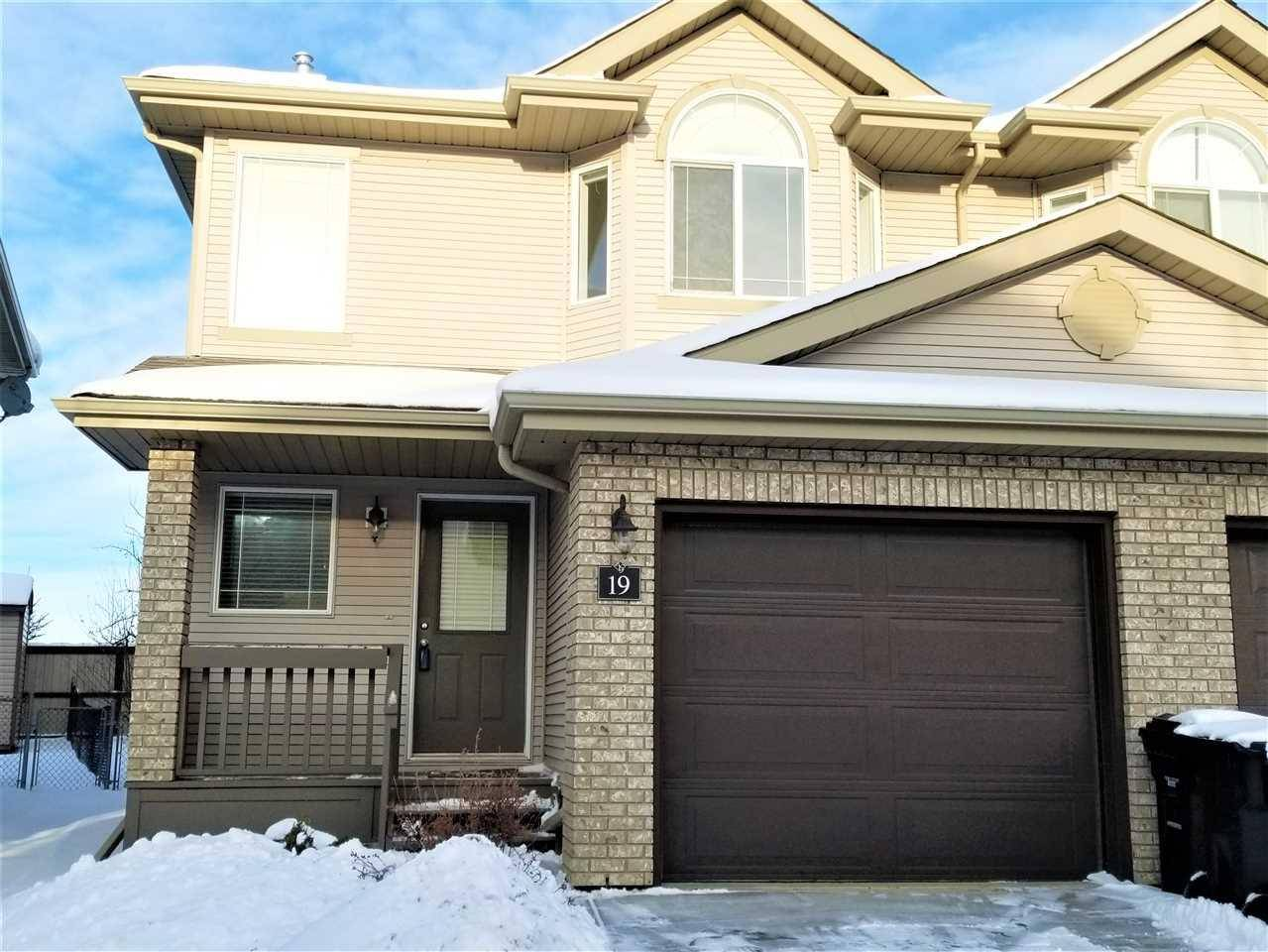 Townhouse for sale at 155 Crocus Cres Unit 19 Sherwood Park Alberta - MLS: E4185111