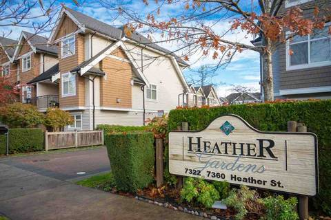 Townhouse for sale at 7322 Heather St Unit 19 Richmond British Columbia - MLS: R2325146