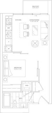 Apartment for rent at 210 Simcoe St Unit 1902 Toronto Ontario - MLS: C4708755