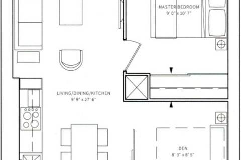 Apartment for rent at 85 Wood St Unit 1910 Toronto Ontario - MLS: C4462080