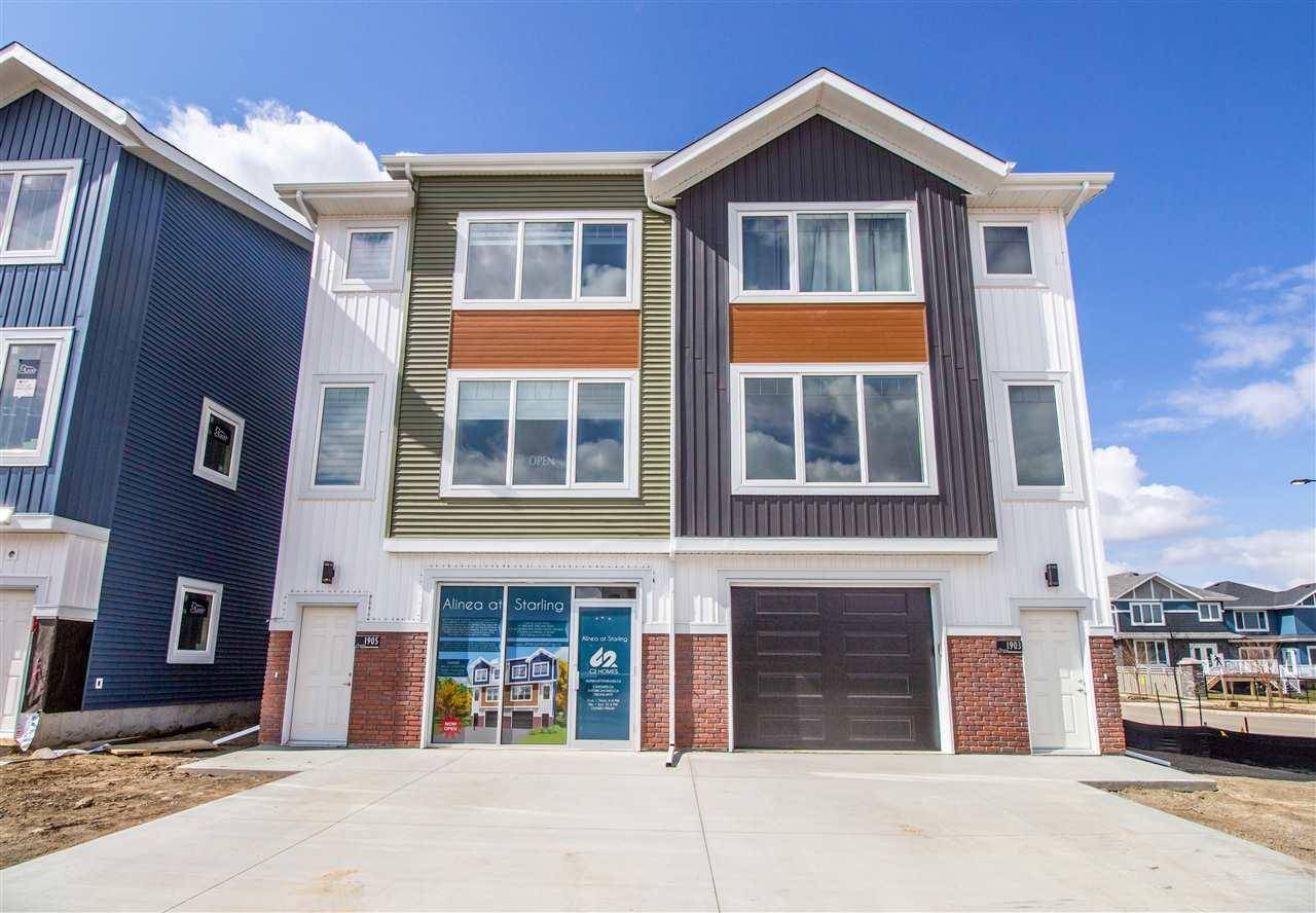 Townhouse for sale at 1915 Tanager Pl Nw Edmonton Alberta - MLS: E4168233