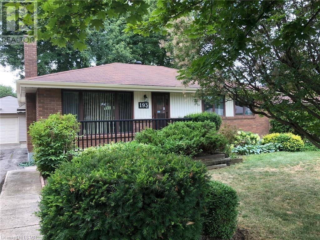 House for sale at 193 Burlington St London Ontario - MLS: 214106