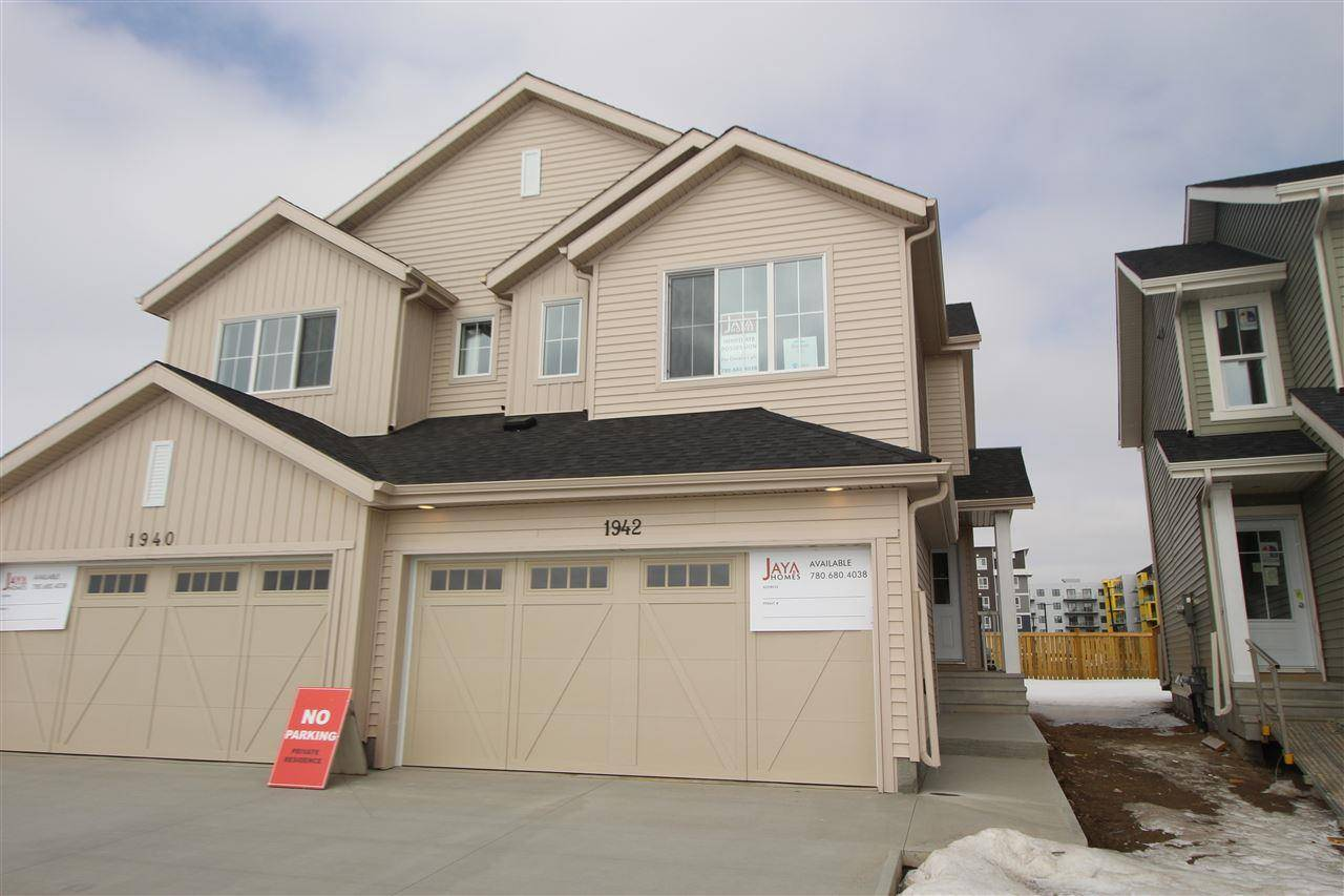 Townhouse for sale at 1942 Kroetsch Cres Sw Edmonton Alberta - MLS: E4192840