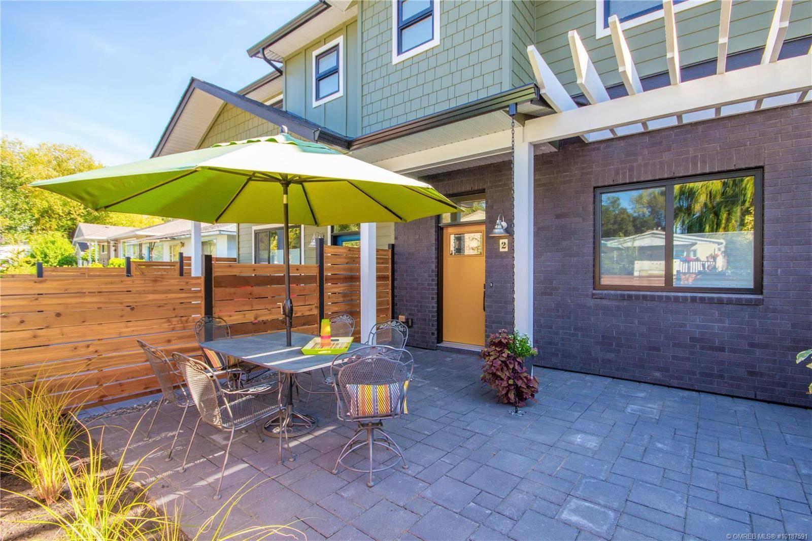 Townhouse for sale at 805 Burne Ave Unit 2 Kelowna British Columbia - MLS: 10187591