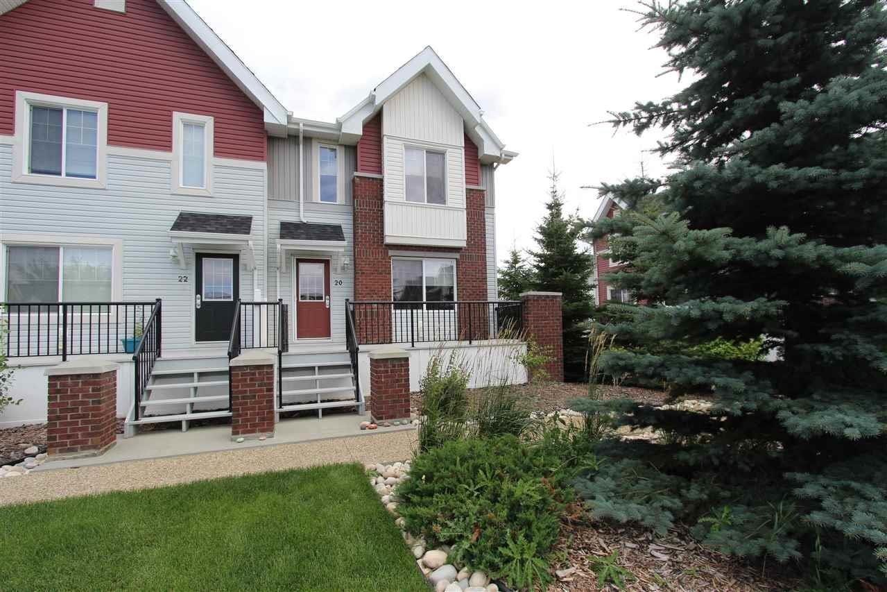 Townhouse for sale at 2336 Aspen Tr Unit 20 Sherwood Park Alberta - MLS: E4210440
