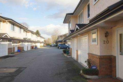 Townhouse for sale at 7691 Moffatt Rd Unit 20 Richmond British Columbia - MLS: R2437396