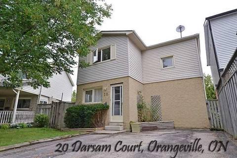 House for sale at 20 Darsam Ct Orangeville Ontario - MLS: W4645478
