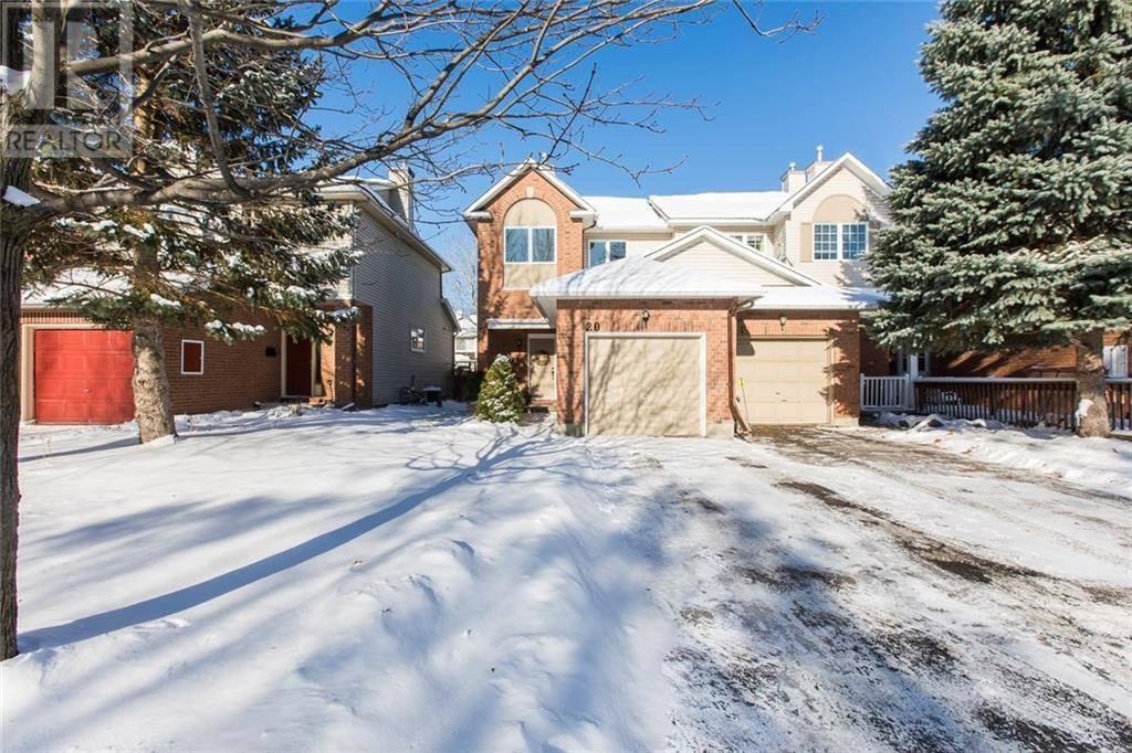 Townhouse for sale at 20 Jackman Te Ottawa Ontario - MLS: 1175271