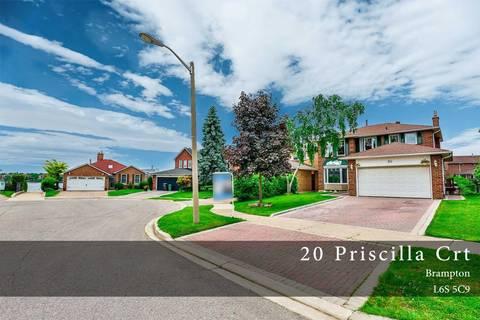 House for sale at 20 Priscilla Ct Brampton Ontario - MLS: W4650149