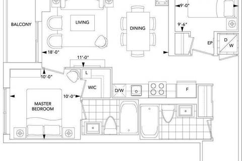 Apartment for rent at 18 Graydon Hall Dr Unit 2011 Toronto Ontario - MLS: C4511734