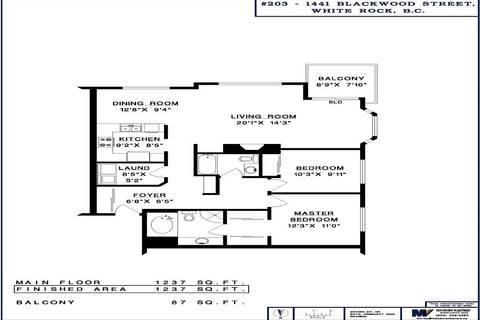 Condo for sale at 1441 Blackwood St Unit 203 White Rock British Columbia - MLS: R2425820