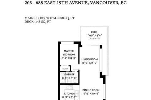 Condo for sale at 688 19th Ave E Unit 203 Vancouver British Columbia - MLS: R2458854